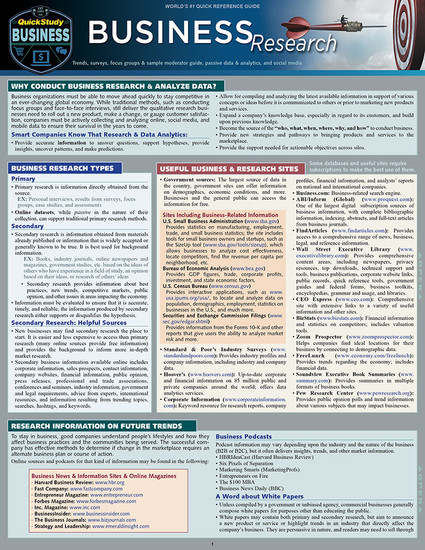 QuickStudy | Business Research Laminated Reference Guide