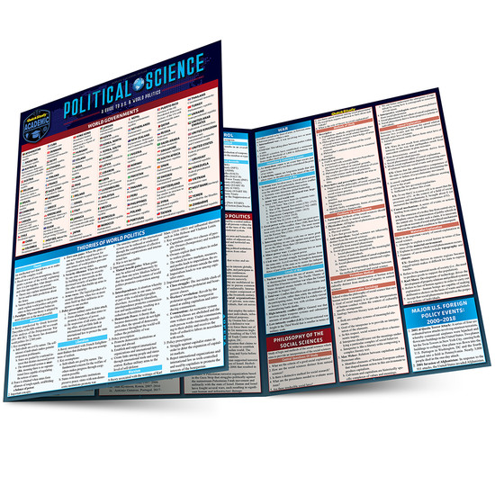 QuickStudy | Political Science Laminated Study Guide