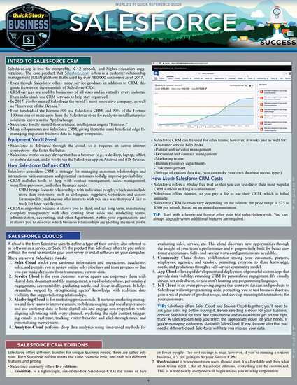 QuickStudy | SalesForce Laminated Reference Guide