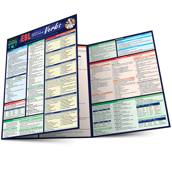 QuickStudy   ESL (English as a Second Language) Verbs Laminated Study Guide
