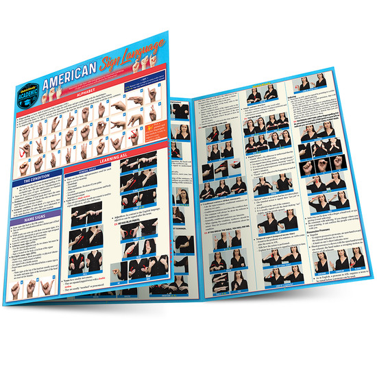 Quick Study QuickStudy American Sign Language Laminated Study Guide BarCharts Publishing Foreign Language Reference Main Image