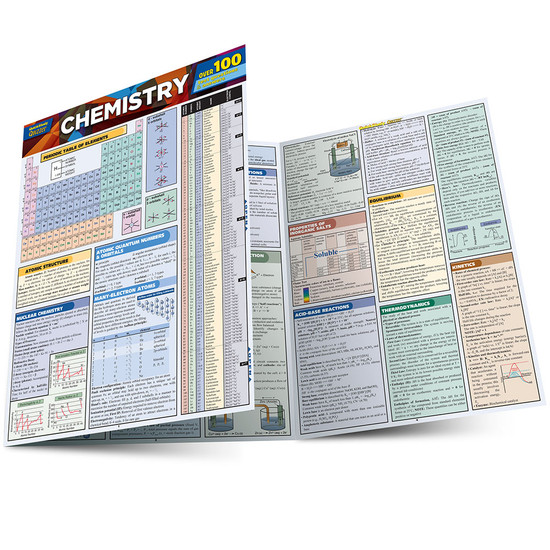 Quick Study QuickStudy Chemistry Quizzer Laminated Study Guide BarCharts Publishing Academic Guide Main Image