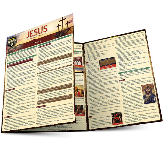 Quick Study QuickStudy Jesus: Historical & Biblical Laminated Study Guide BarCharts Publishing Religion Reference Main Image