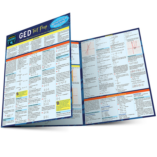 QuickStudy   GED Test Prep: Mathematical Reasoning Laminated Study Guide