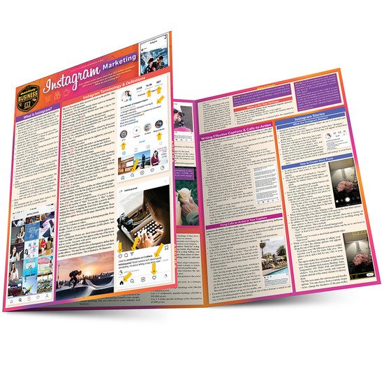 Quick Study QuickStudy Instagram Marketing Laminated Reference Guide BarCharts Publishing Social Media Marketing Reference Main Image