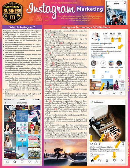 Quick Study QuickStudy Instagram Marketing Laminated Reference Guide BarCharts Publishing Social Media Marketing Reference Cover Image