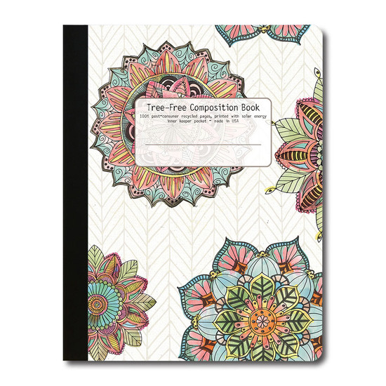Tree-Free Greetings | Mandala Morning Composition Book