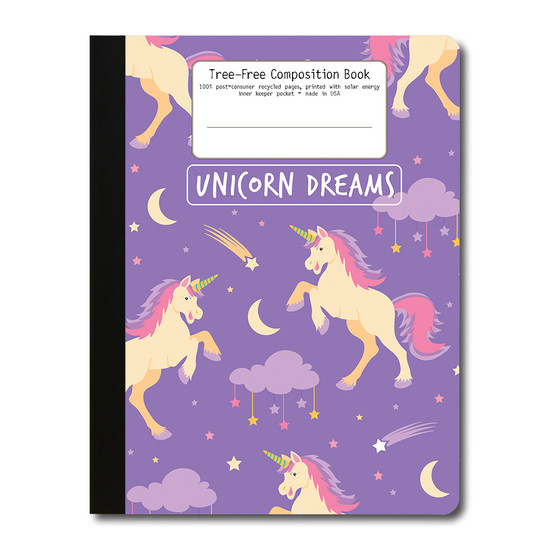 Tree-Free Greetings | Unicorn Dreams Composition Book