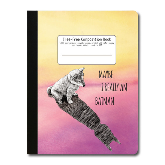 Tree-Free Greetings | Batman Dog Composition Book