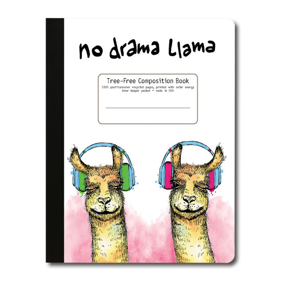 Tree Free Greetings | Pink Llama Composition Book