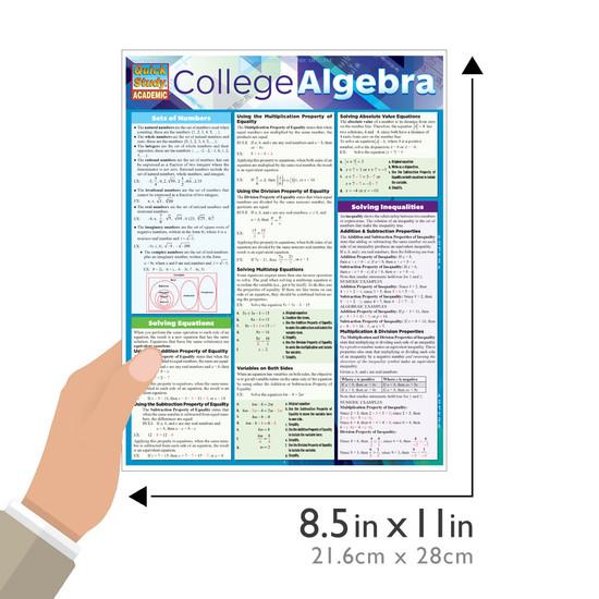 QuickStudy | College Algebra Laminated Study Guide