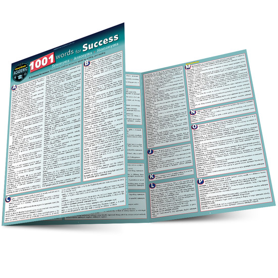 QuickStudy | 1001 Words For Success: Synonyms, Antonyms & Homonyms Laminated Study Guide