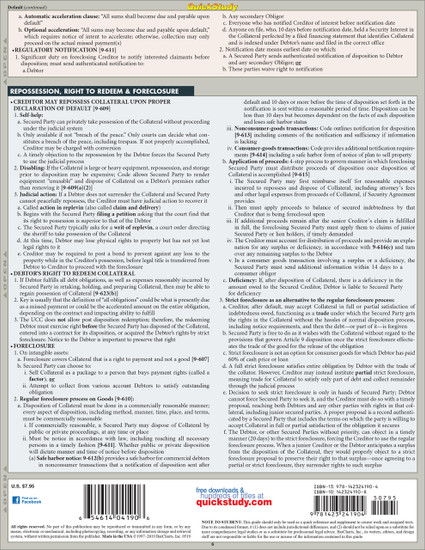 QuickStudy | Secured Transactions Laminated Reference Guide