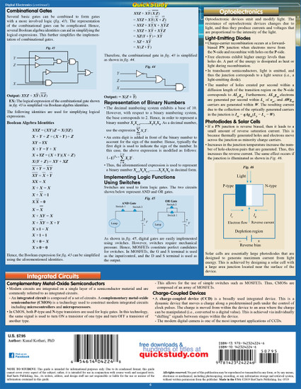 Quick Study QuickStudy Electronics 2 Laminated Reference Guide BarCharts Publishing Engineering Reference Back Image