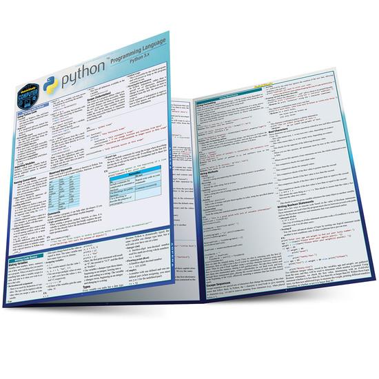 Quick Study QuickStudy Python 3 Programming Language Laminated Reference Guide BarCharts Publishing Computer Programming/Coding Language Outline Main Image