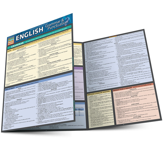 Quick Study QuickStudy English Grammar Punctuation Laminated Study Guide BarCharts Publishing Guide Main Image