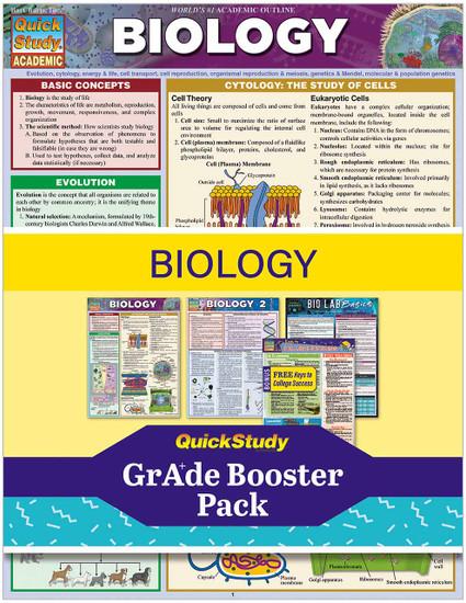 QuickStudy   Biology Grade Booster Pack
