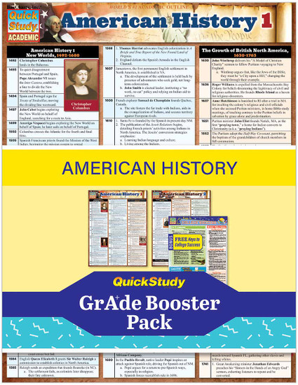 QuickStudy   American History Grade Booster Pack