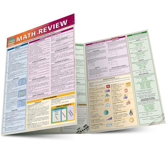 Quick Study QuickStudy Math Review Laminated Study Guide BarCharts Publishing Mathematics Guide Main Image