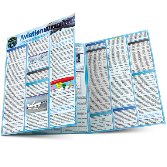 Quick Study QuickStudy Aviation Terminology Laminated Study Guide BarCharts Publishing Career Reference Main Image
