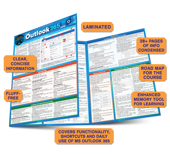 Quick Study QuickStudy Microsoft PowerPoint 365: 2019 Laminated Study Guide BarCharts Publishing Career Reference Guide Benefits