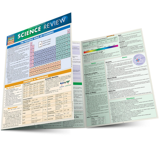 Quick Study QuickStudy Science Review Laminated Study Guide BarCharts Publishing Academic Reference Main Image