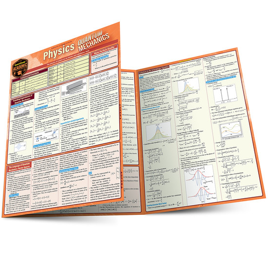 Quick Study QuickStudy Physics: Quantum Mechanics Laminated Study Guide BarCharts Publishing Science Reference Main Image