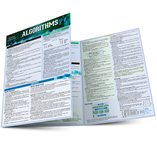 Quick Study QuickStudy Algorithms Laminated Study Guide BarCharts Publishing Computer Digital Content Reference Main Image