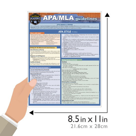 QuickStudy | APA/MLA Guidelines Laminated Study Guide