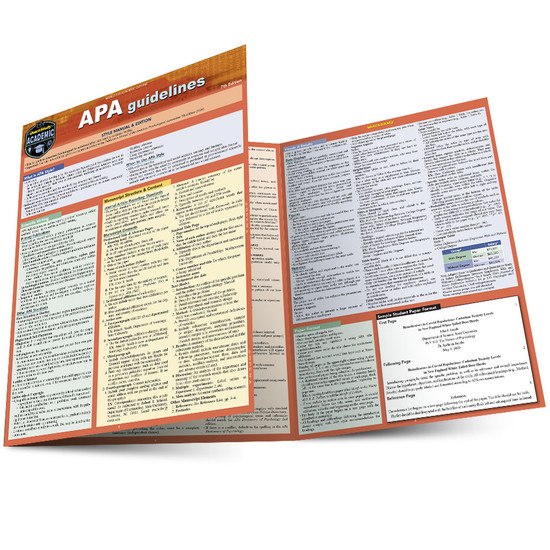 QuickStudy | APA Guidelines Laminated Study Guide