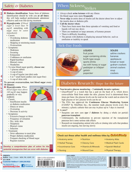 QuickStudy | Diabetes Care Laminated Reference Guide