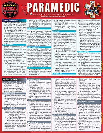 QuickStudy | Paramedic Laminated Reference Guide