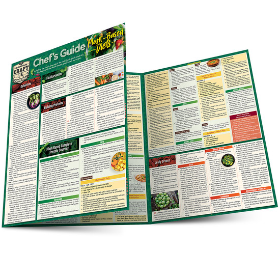 Quick Study QuickStudy Chef's Guide to Plant-Based Diets Laminated Reference Guide BarCharts Publishing Culinary Reference Outline Main Image