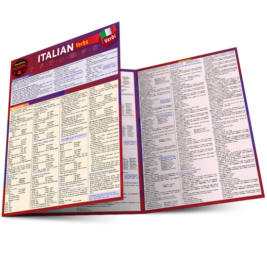 QuickStudy | Italian Verbs Laminated Study Guide