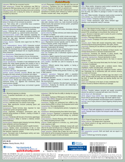 QuickStudy | Biology Terminology Laminated Study Guide