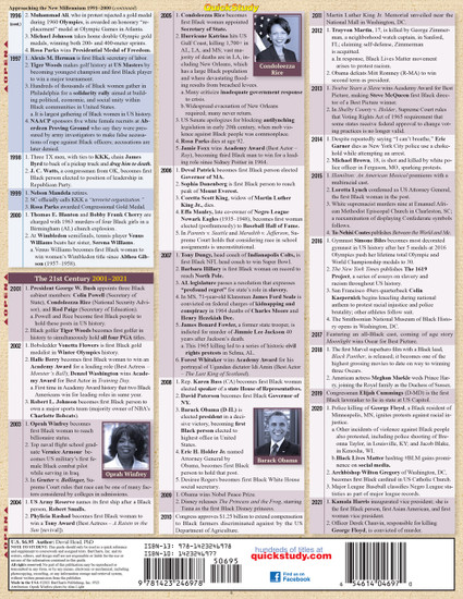 QuickStudy Black History: Civil War To Present Laminated Study Guide Back Image
