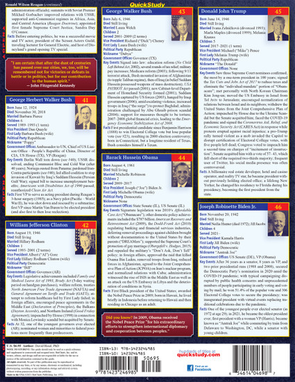 QuickStudy | U.S. Presidents Laminated Study Guide