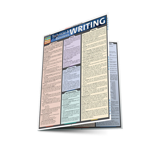 QuickStudy   Technical & Business Writing Laminated Study Guide