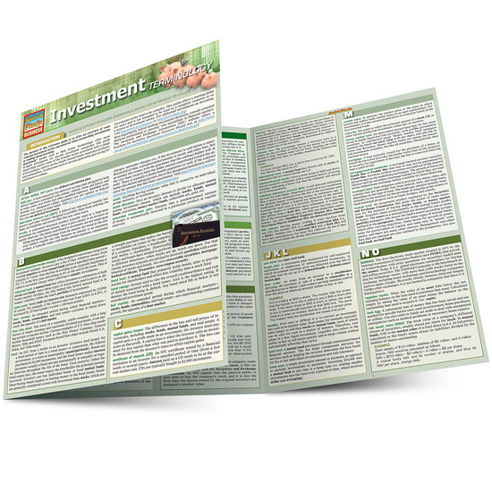 QuickStudy | Investment Terminology Laminated Reference Guide