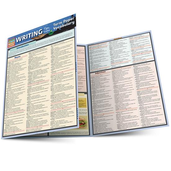 QuickStudy | Writing Tips & Tricks: Term Paper Vocabulary Laminated Study Guide