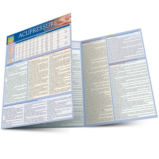 Quick Study QuickStudy Acupressure Point Functions Laminated Study Guide BarCharts Publishing Guide Main Image