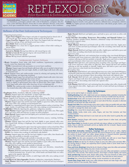 Quick Study QuickStudy Reflexology: Point Functions & Technique Laminated Study Guide BarCharts Publishing Medical Reference Guide Cover Image