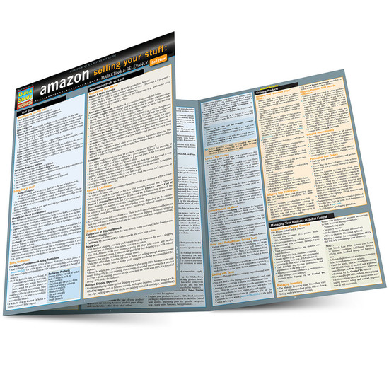 Quick Study QuickStudy Amazon: Selling Your Stuff - Marketing & Relevancy Laminated Reference Guide BarCharts Publishing Business & Entrepreneurship Reference Main Image