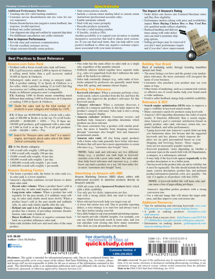 Quick Study QuickStudy Amazon: Selling Your Stuff - Marketing & Relevancy Laminated Reference Guide BarCharts Publishing Business & Entrepreneurship Reference Back Image