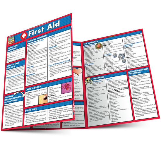 Quick Study QuickStudy First Aid Laminated Study Guide BarCharts Publishing First Aid Reference Main Image