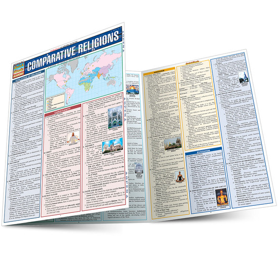 Quick Study QuickStudy Comparative Religions Laminated Study Guide BarCharts Publishing Faith-Based Reference Main Image