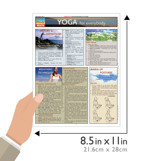 QuickStudy   Yoga for Everybody Laminated Reference Guide