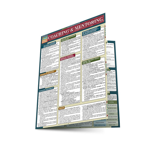 Quick Study QuickStudy Coaching & Mentoring Laminated Reference Guide BarCharts Publishing Medical Reference Main Image