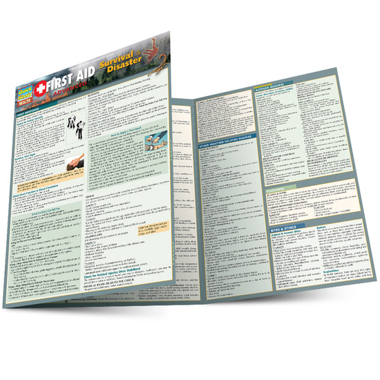 QuickStudy | First Aid Advanced: Survival & Disasters Laminated Reference Guide