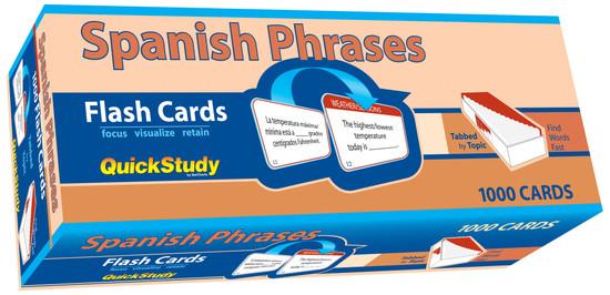 QuickStudy | Spanish Phrases Flash Cards
